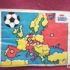 Cromos de Fútbol: DUBBLE BUBBLE FUTBOL MUNDIAL CAMPEONES DE LA COPA DE EUROPA DE NACIONES MAPA DE PAÍSES. Lote 75799351