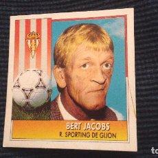 Cromos de Fútbol: 92-93 ESTE. ENTRENADOR SPORTING DE GIJON BERT JACOBS. Lote 75842619