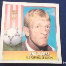 Cromos de Fútbol: 92-93 ESTE. SPORTING GIJON BERT JACOBS. Lote 75912535