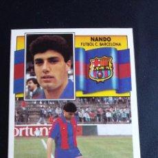 Cromos de Fútbol: ESTE 90/91 1990 1991 - FICHAJE Nº 34 NANDO - FC. BARCELONA ( NUNCA PEGADO ). Lote 75930131