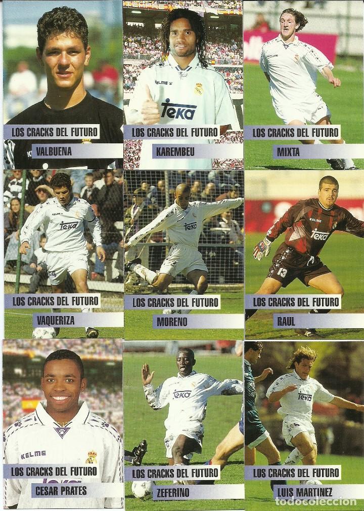 a6623a63d Cromos de Fútbol  LOTE DE 29 CARDS REAL MADRID. TEMPORADA 96-97