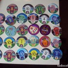Cromos de Fútbol: 28 TAZOS MATU LIGA LFP CHEETOS MATUTANO. Lote 78222365