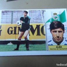 Cromos de Fútbol: ALF ESTE 86 87 1986 1987 ALBA RACING SANTANDER NUNCA PEGADO. Lote 78233037