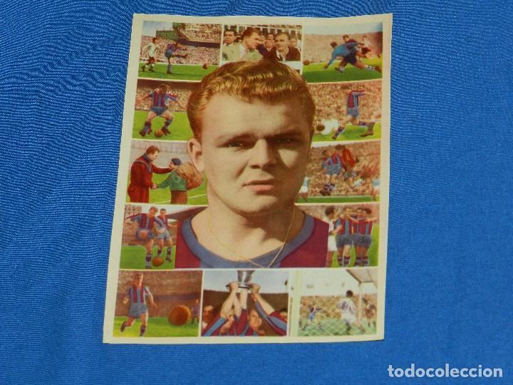 FC BARCELONA - KUBALA , CROMO MUY RARO , 18 X 13 CM, SIN PEGAR, IMPECABLE ESTADO (Coleccionismo Deportivo - Álbumes y Cromos de Deportes - Cromos de Fútbol)