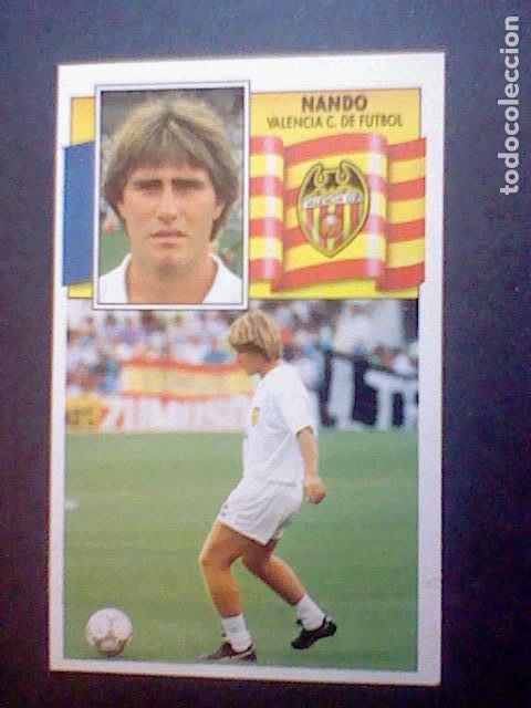 ED ESTE RECUPERADO 1990 90 91 VALENCIA NANDO (Coleccionismo Deportivo - Álbumes y Cromos de Deportes - Cromos de Fútbol)