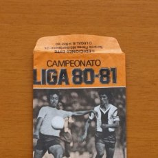 Cromos de Fútbol: SOBRE VACIO, SIN CROMOS - COLOR NARANJA - CAMPEONATO LIGA 1980-1981, 80-81 - EDICIONES ESTE. Lote 79837593