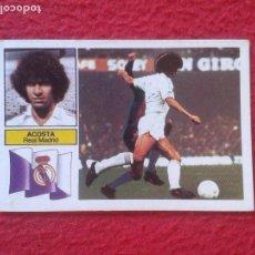 Cromos de Fútbol: CROMO DE FÚTBOL TEMPORADA 1982 1983 82 83 ED. ESTE NUNCA PEGADO ACOSTA REAL MADRID DIFÍCIL VER. LJ. Lote 79917337