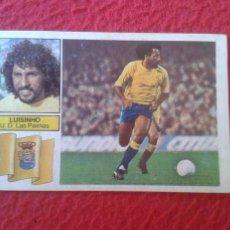 Cromos de Fútbol: CROMO DE FÚTBOL TEMPORADA 1982 1983 82 83 EDICIONES ESTE NUNCA PEGADO BAJA LUISINHO LAS PALMAS LJ. Lote 80080057