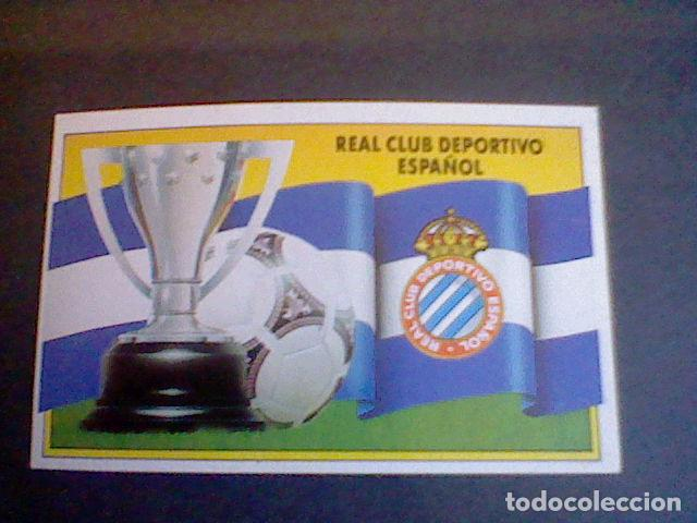 ED ESTE CROMO RECUPERADO 1991 90 1990 91 R C D ESPANYOL ESPAÑOL ESCUDO  BANDERA (Coleccionismo Deportivo c3d8701d964