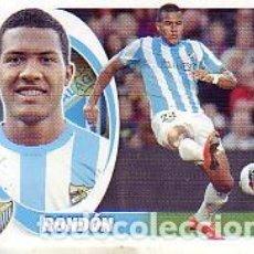 Cromos de Fútbol: ESTE 2012 2013 - MALAGA CF - Nº 16A RONDÓN - NUEVO DE SOBRE. Lote 187486281
