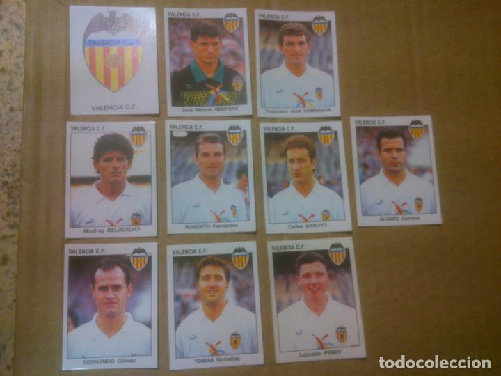 PANINI FÚTBOL ESTRELLAS DE LA LIGA 1993-1994 (93/94) LOTE CROMOS VALENCIA C.F, NUNCA PEGADOS (Coleccionismo Deportivo - Álbumes y Cromos de Deportes - Cromos de Fútbol)