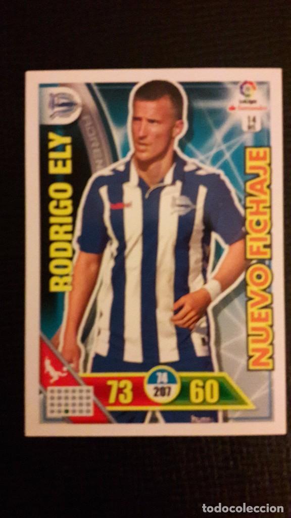 ADRENALYN XL 2016/17 - RODRIGO ELY - NUEVO FICHAJE - ALAVES - NUM 14BIS (Coleccionismo Deportivo - Álbumes y Cromos de Deportes - Cromos de Fútbol)