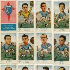 Cromos de Fútbol: CELTA, TEMPORADA 1958-59, DE GRAFICAS EXCELSIOR, NUNCA PEGADOS. Lote 83264248