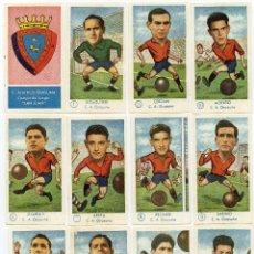 Cromos de Fútbol: ATLETICO OSASUNA, TEMPORADA 1958-59, DE GRAFICAS EXCELSIOR, NUNCA PEGADOS. Lote 83264656