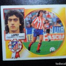 Cromos de Futebol: LOPEZ DEL ATLETICO DE MADRID ALBUM ESTE LIGA 1994 - 1995 ( 94 - 95 ) . Lote 132007603