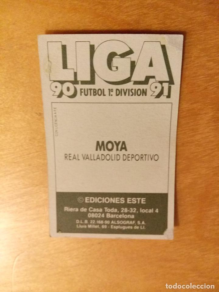 Cromos de Fútbol: EDICIONES ESTE 1990 1991 - 90 91 - MOYA - REAL VALLADOLID - Foto 2 - 84674220