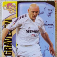Cromos de Fútbol: 110 - GRAVESEN (REAL MADRID) SUPERSTAR - MATE - MUNDICROMO 2004 2005. Lote 84828708