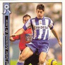 Cromos de Fútbol: #1112 ARIZMENDI DEPORTIVO 05 06 MUNDICROMO FICHAS LIGA 2006 2005 PLATINUM. Lote 84842704