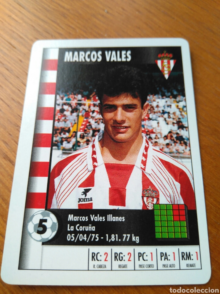 cromo carta fútbol marcos vales- real sporting - Comprar Cromos de ...