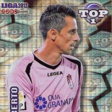 Cromos de Fútbol: MUNDICROMO 2012 #549 ROBERTO (GRANADA C.F.) (AZUL FONDO CUADROS). Lote 84934335