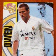 Cromos de Fútbol: 174 - OWEN (REAL MADRID) SUPERSTAR MATE - MUNDICROMO 2004 2005. Lote 84976408