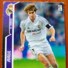 Cromos de Fútbol: 197 - RAUL (REAL MADRID) MGK - MEGACRACKS 2005 2006. Lote 85103548
