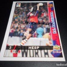 Cromos de Fútbol: 3 HESP F.C. BARCELONA CROMOS ALBUM MUNDICROMO FICHAS LIGA FUTBOL 98 99 1998 1999. Lote 152387682