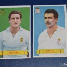 Cromos de Fútbol: LOTE DE 2 CROMOS - BARINAGA - MACALA - REAL MADRID - BRUGUERA - AÑOS 40 / 50 - ¡HAZ UNA OFERTA!. Lote 85387368