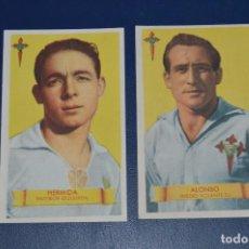 Cromos de Fútbol: LOTE DE 2 CROMOS - HERMIDA - ALONSO - CELTA DE VIGO - BRUGUERA - AÑOS 40 / 50 - ¡HAZ UNA OFERTA!. Lote 85388024