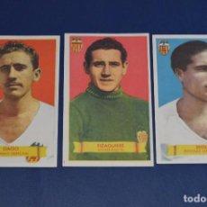 Cromos de Fútbol: LOTE 3 CROMOS - GAGO - SEGUI - EIZAGUIRRE - VALENCIA CF - BRUGUERA - AÑOS 40 / 50 - ¡HAZ OFERTA!. Lote 85388616