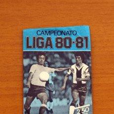 Cromos de Fútbol: SOBRE SIN ABRIR - EDICIONES ESTE - LIGA 1980-1981, 80-81 - AZUL. Lote 10810470