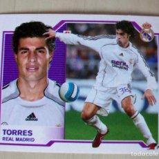 Cromos de Fútbol: TORRES (REAL MADRID) CROMO ESTE 2007 2008 PANINI NUNCA PEGADO SIN LETRA. Lote 85723148