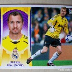 Cromos de Fútbol: 2 - DUDEK (REAL MADRID) CROMO ESTE 2009 2010 PANINI NUNCA PEGADO. Lote 85741536
