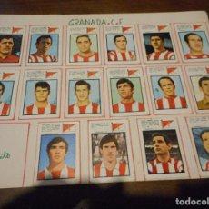 Cromos de Fútbol: CROMO CROMOS FUTBOL EQUIPO GRANADA CF Y S DE GIJON TEMPORADA 1971 1972 FHER. Lote 86056800