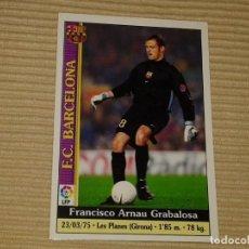 Cromos de Fútbol: CROMO FÚTBOL COLECCIÓN MUNDICROMO 1999-2000 (09 00) F.C. BARCELONA 4 ARNAU. Lote 86316512