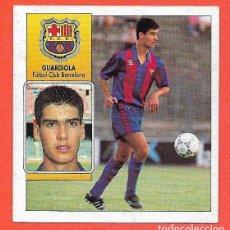 Cromos de Fútbol: GUARDIOLA FC BARCELONA BARÇA EDICIONES ESTE 1992 1993 LIGA 92 93 CROMO FUTBOL SIN PEGAR NUNCA PEGADO. Lote 86582700