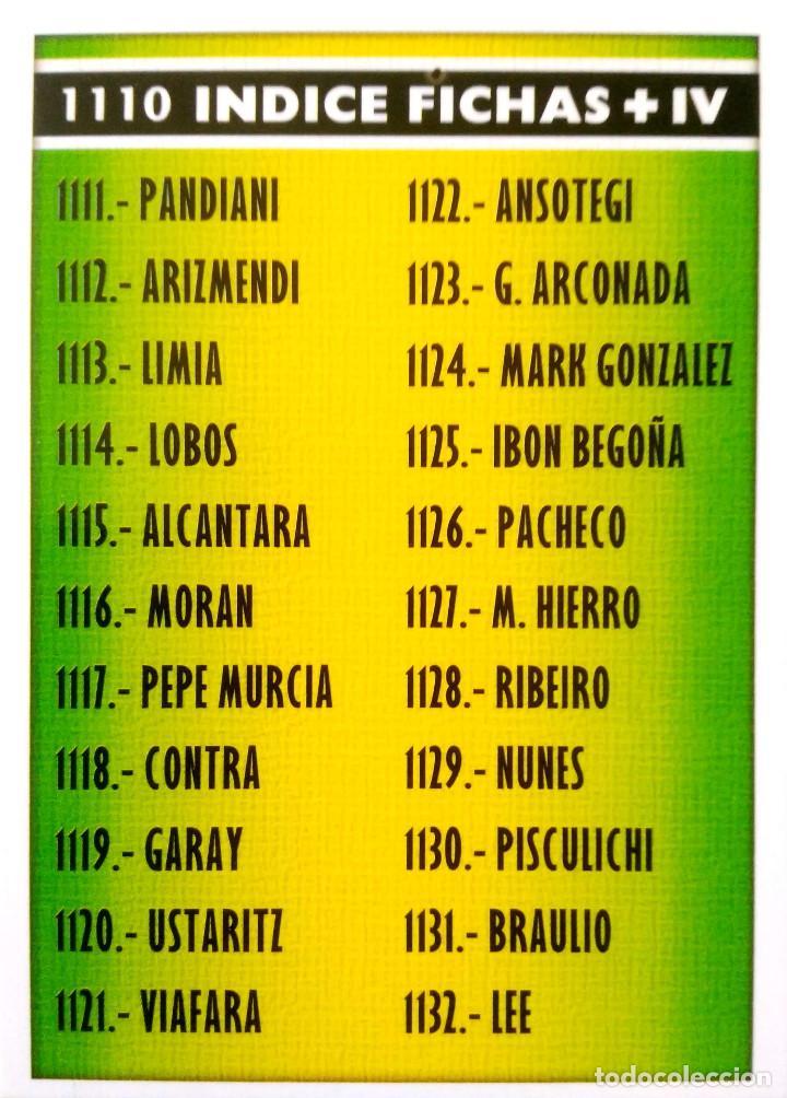 1110 INDICE FICHAS + IV - MUNDICROMO MC - FICHAS LIGA 2005 2006 05 06 (Coleccionismo Deportivo - Álbumes y Cromos de Deportes - Cromos de Fútbol)