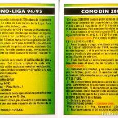 Cromos de Fútbol: BONO LIGA 94 95 1994 1995 - COMODIN 2006 - MUNDICROMO MC - FICHAS LIGA 2005 2006 05 06. Lote 139330742