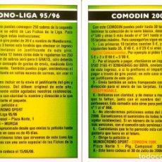 Cromos de Fútbol: BONO LIGA 95 96 1995 1996 - COMODIN 2006 - MUNDICROMO MC - FICHAS LIGA 2005 2006 05 06. Lote 86762492