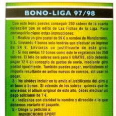 Cromos de Fútbol: BONO LIGA 97 98 1997 1998 - COMODIN 2006 - MUNDICROMO MC - FICHAS LIGA 2005 2006 05 06. Lote 86762556