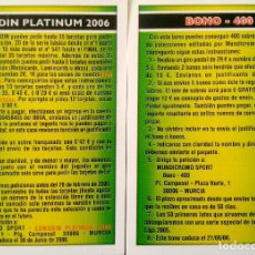 Cromos de Fútbol: BONO 400 - COMODIN PLATINUM 2006 - MUNDICROMO MC - FICHAS LIGA 2005 2006 05 06. Lote 105572862