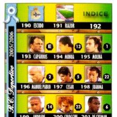 Cromos de Fútbol: 192 INDICE - DEPORTIVO CORUÑA - MUNDICROMO MC - FICHAS LIGA 2005 2006 05 06. Lote 86819696