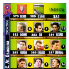 Cromos de Fútbol: 381 INDICE - AT. OSASUNA - MUNDICROMO MC - FICHAS LIGA 2005 2006 05 06. Lote 86916860