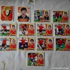 Cromos de Fútbol: LOTE CROMOS OSASUNA LIGA ESTE 2011 - 12. Lote 87082496