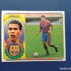 Cromos de Fútbol: CROMOS EDICIONES ESTE 96 97 1996 1997 CROMO NUNCA PEGADO DOBLE IMAGEN VERSION RONALDO BARCELONA. Lote 87113024