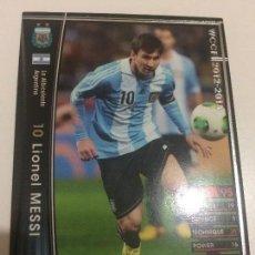 Cromos de Fútbol: CROMO CARD WCCF LIGA 2012-13 PANINI DE JAPÓN SELECCIÓN ARGENTINA LEO MESSI FC BARCELONA BARÇA. Lote 170457900