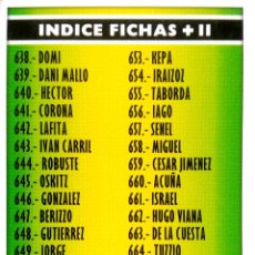 Cromos de Fútbol: 637 INDICE FICHAS + II XII EDICION - MUNDICROMO MC - FICHAS LIGA 2005 2006 05 06. Lote 87582604