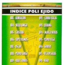 Cromos de Fútbol: 883 INDICE ALINEACION - POLI EJIDO - MUNDICROMO MC - FICHAS LIGA 2005 2006 05 06. Lote 145312689