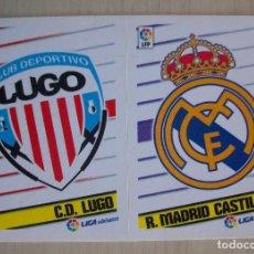 Cromos de Fútbol: 6 - ESCUDO ( LUGO - REAL MADRID CASTILLA) ESTE 2013 2014. Lote 87634368