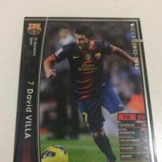 Cromos de Fútbol: CROMO CARD WCCF LIGA 2012-13 PANINI DE JAPÓN FC BARCELONA BARÇA DAVID VILLA TENGO + MIRA MIS LOTES. Lote 226401205